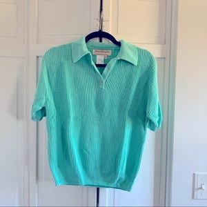 💕3 for $20💕 Norm Thompson Sea-foam Sweater Top
